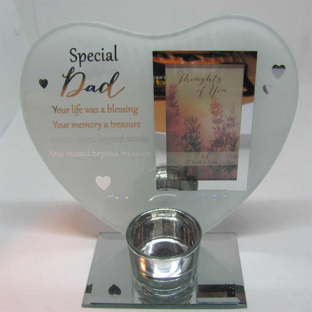 Special Dad Glass Tealight Holder