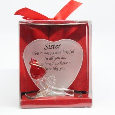 Glass Friendship Plaque Sister