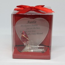 Glass Friendship Plaque Auntie