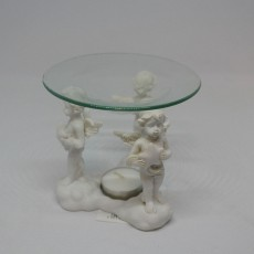 3 Cherub decorative oil burner