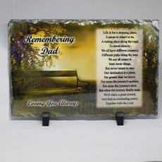Remembering Dad Slate Memorial