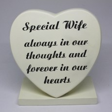 Special Wife Grave Heart Large