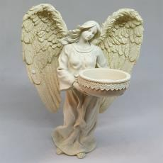 Cream  Angel Statue Tealight Holder