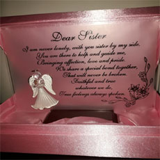 Dear Sister Plaque In Presentation Case