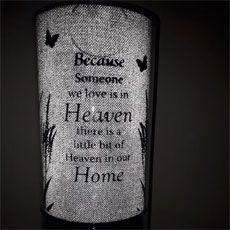 Because Someone's In Heaven Candle Silver