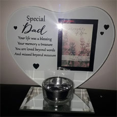 Special Dad Glass Plaque/Photo Frame