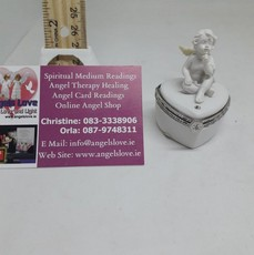 Angel On Heart Urn Box