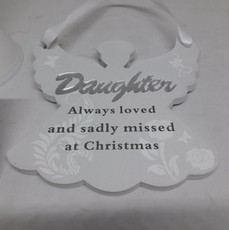 Remembering Daughter Angel Christmas Tree Hanger