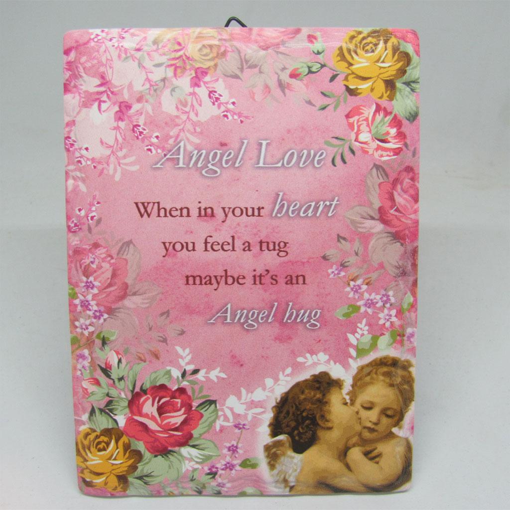 Angel Love Wall Plaque