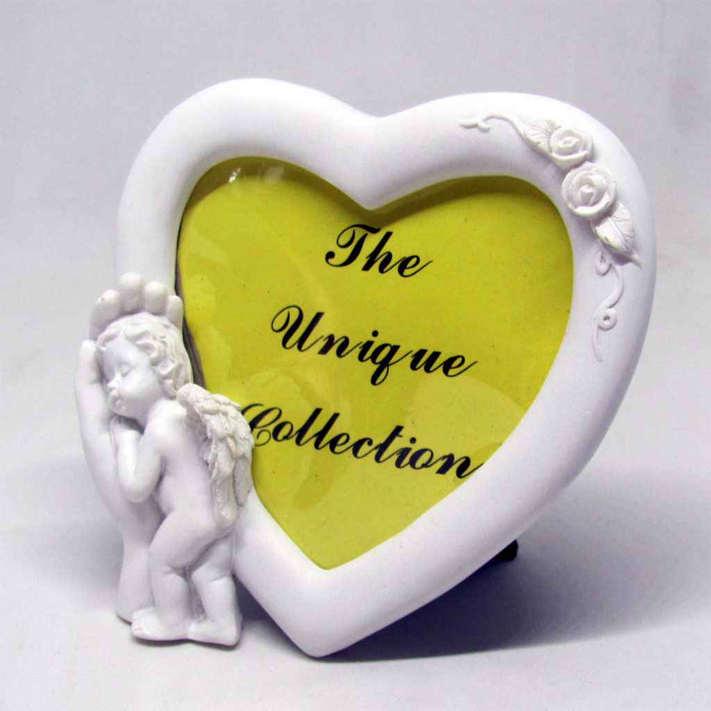 Angel Heart Shaped Picture Frame