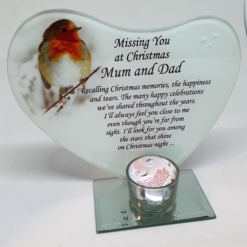 Missing You at Christmas Mum And Dad Ornament