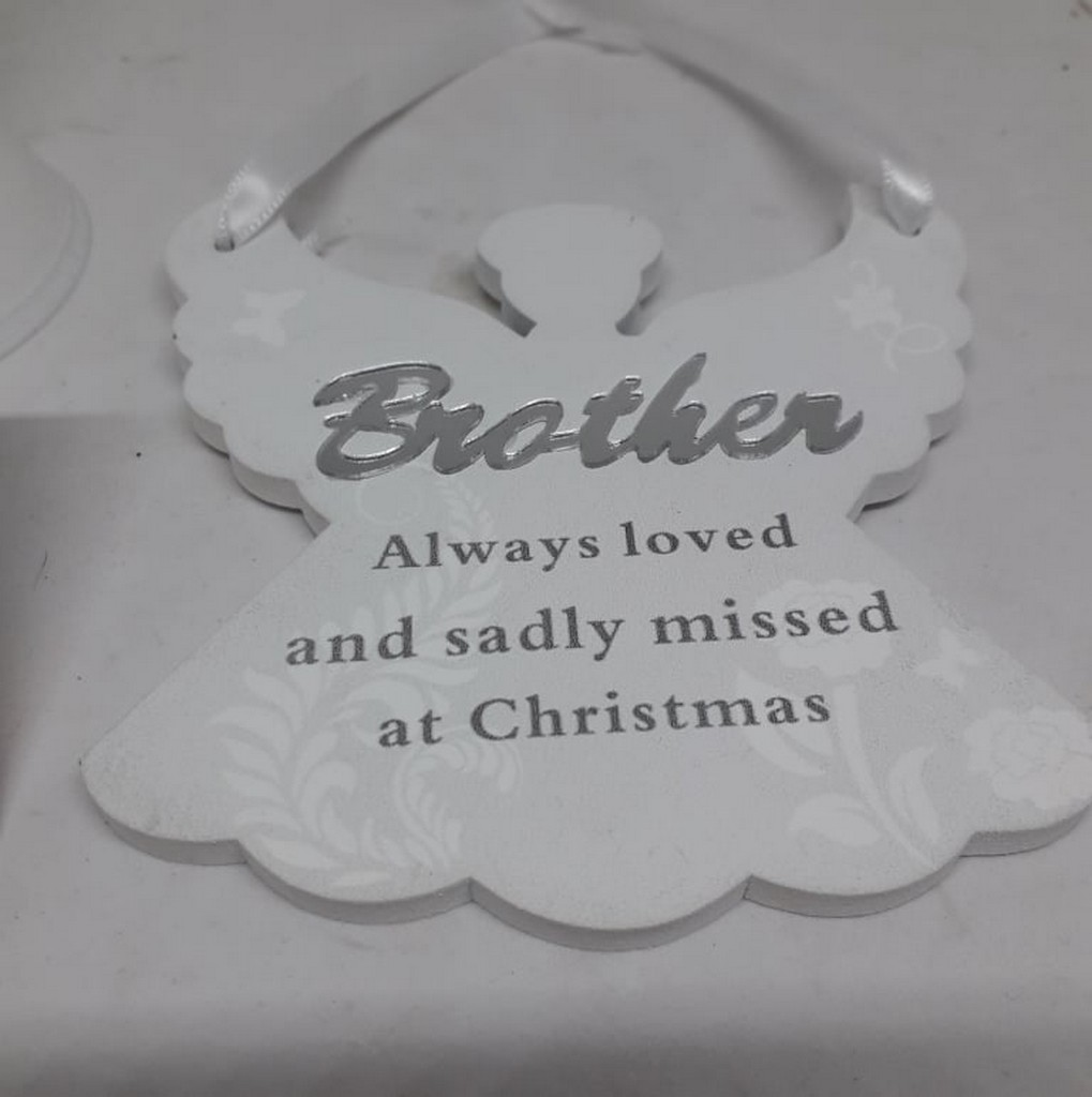 Remembering Brother Angel Christmas Tree Hanger