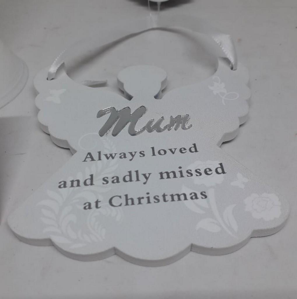 Remembering Mum Angel Christmas Tree Hanger