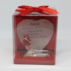 Glass Friendship Plaque Auntie