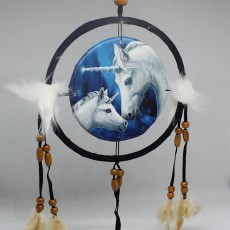 Unicorn Dreamcatcher Blue  15cm