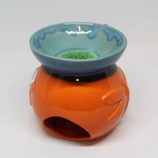 Orange and Green Oil Burner