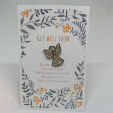 Get Well Soon Angel Pin