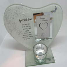 Special Son Glass Tealight Holder