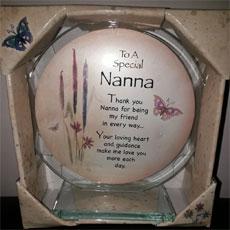 To A Special Nanna Glass Plaque
