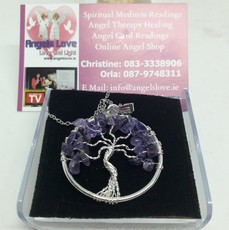 Amathyst Tree Of Life Necklace