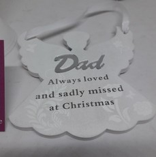 Remembering Dad Angel Christmas Tree Hanger